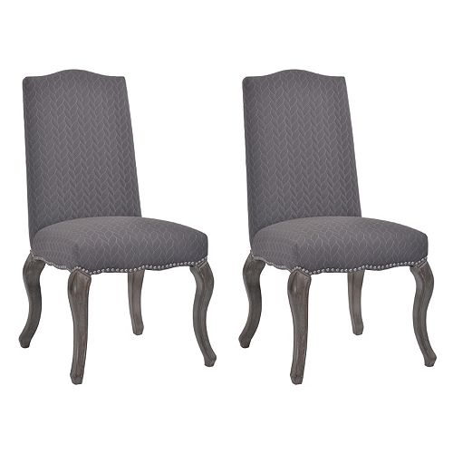 Linon Quilted Cabriolet Dining Chair 2-piece Set