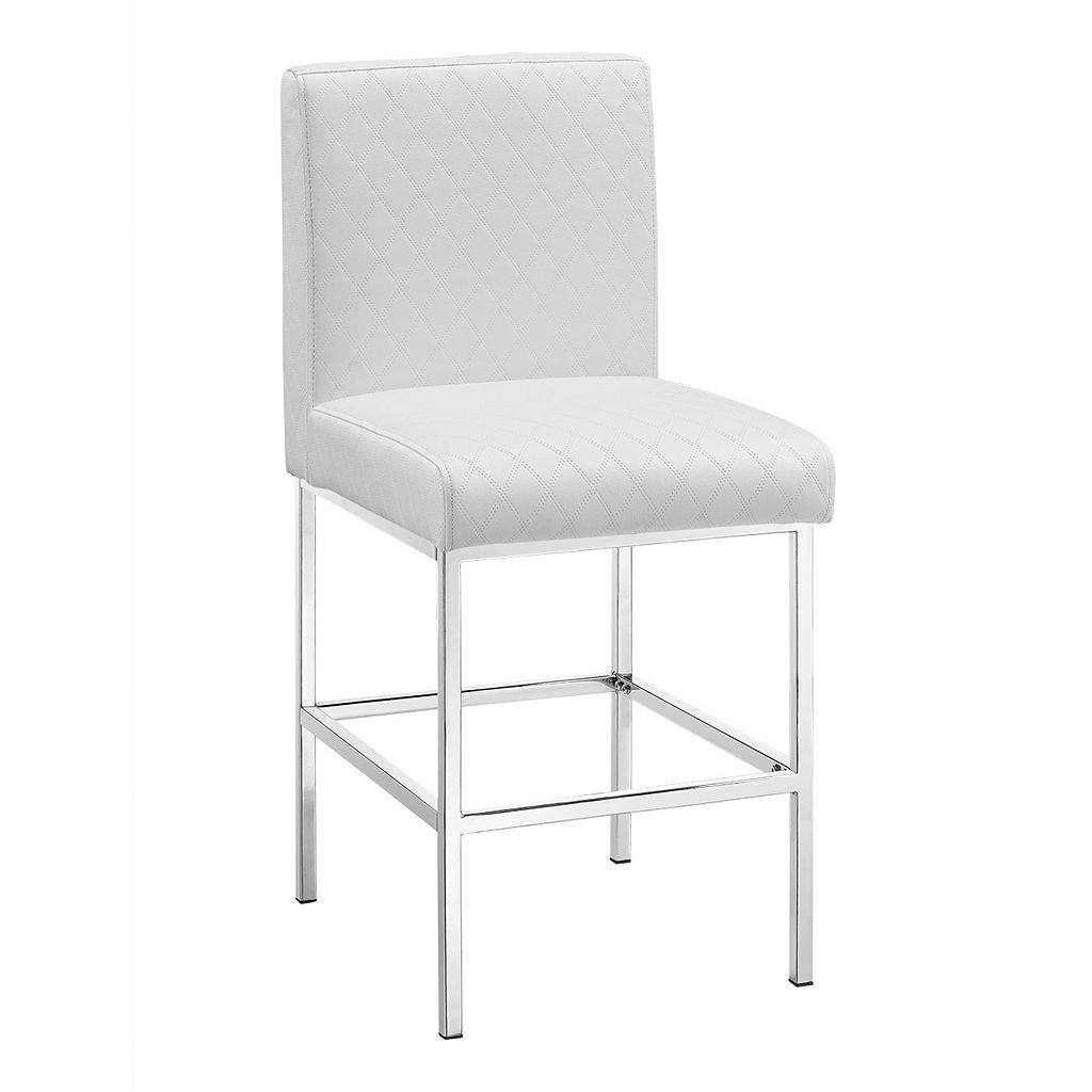 Linon Clarey Quilted Counter Stool