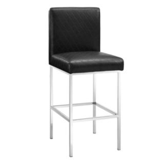 Linon Clarey Quilted Bar Stool