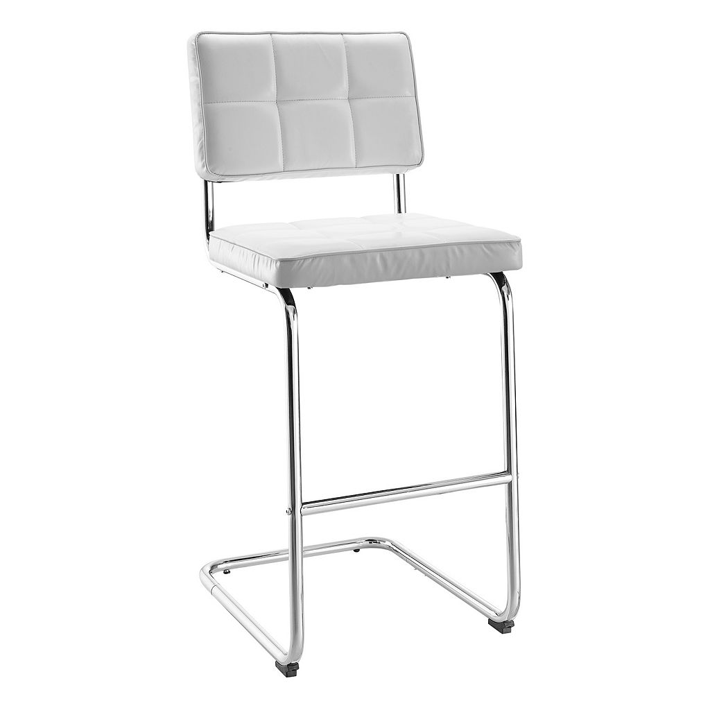 Linon Tufted Breuer Bar Stool