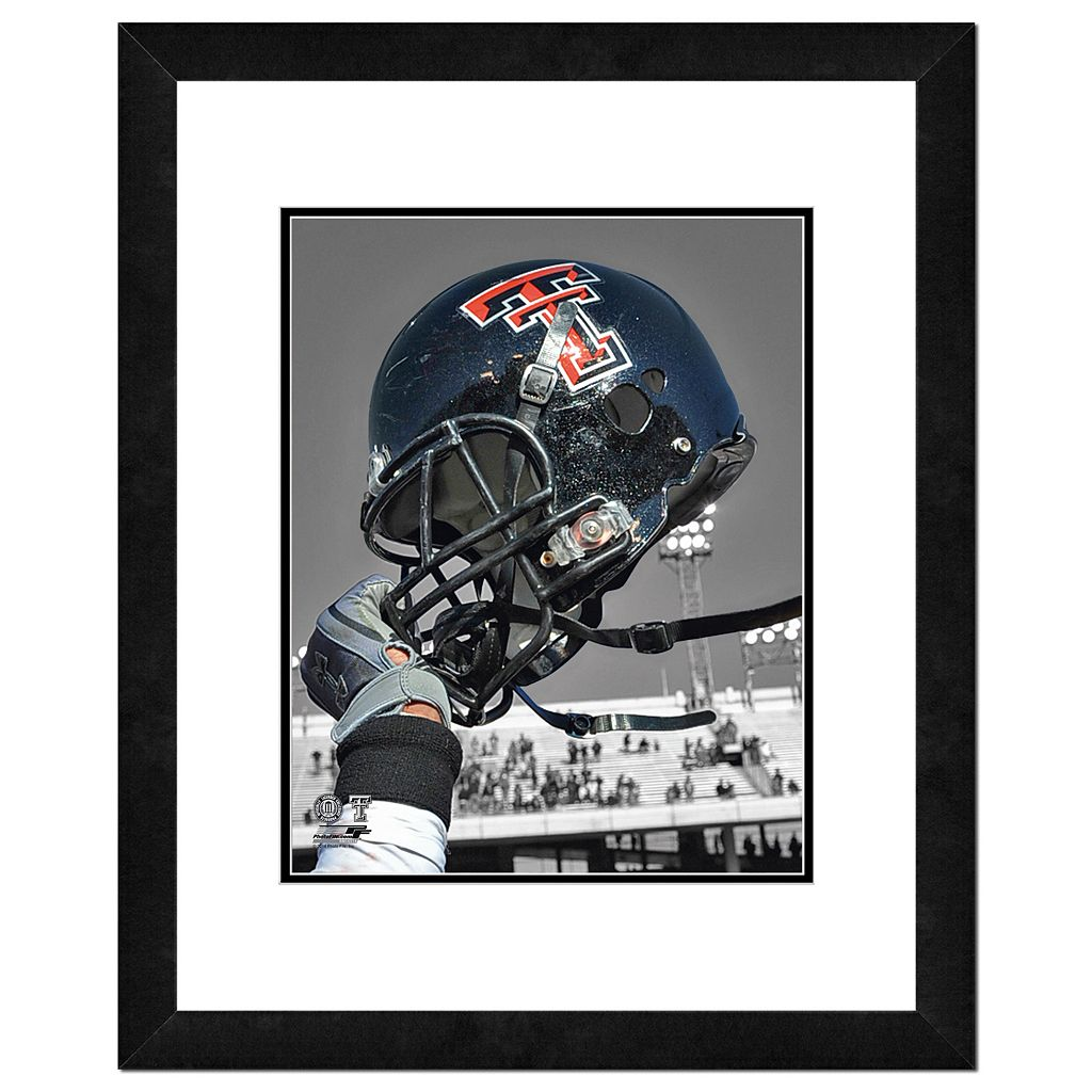 Texas Tech Red Raiders Helmet Framed 11