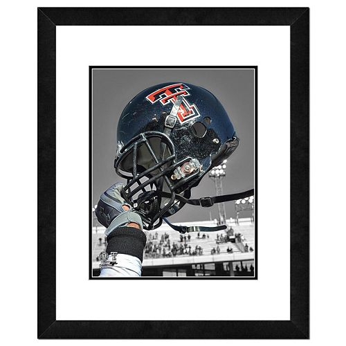 "Texas Tech Red Raiders Helmet Framed 11"" x 14"" Photo"