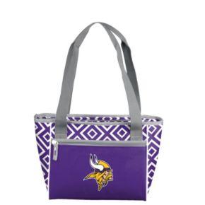 Logo Brand Minnesota Vikings 16-Can Diamond Cooler Tote