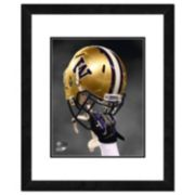 "Washington Huskies Helmet Framed 11"" x 14"" Photo"