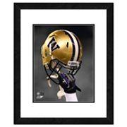 Washington Huskies Helmet Framed 11' x 14' Photo