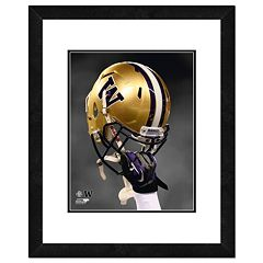 Washington Huskies Helmet Framed 11' x 14' Photo