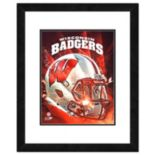 "Wisconsin Badgers Helmet Framed 11"" x 14"" Photo"