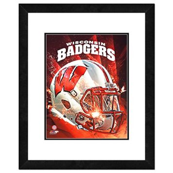 Wisconsin Badgers Helmet Framed 11