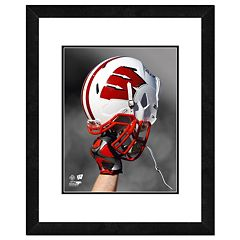 Wisconsin Badgers Helmet Framed 11' x 14' Photo