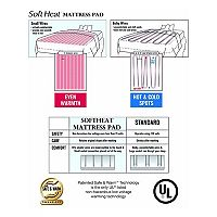 Soft Heat Dobby Stripe Warming Mattress Pad
