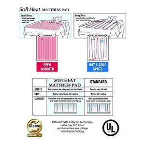 Soft Heat Dobby Stripe Warming Mattress Pad