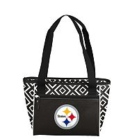 Logo Brand Pittsburgh Steelers 16-Can Diamond Cooler Tote