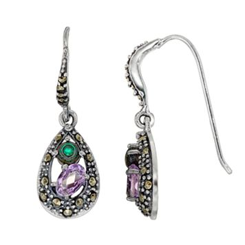 Tori Hill Sterling Silver Gemstone Teardrop Earrings