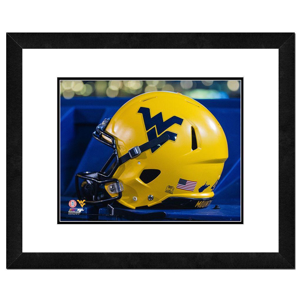 West Virginia Mountaineers Helmet Framed 11