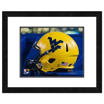 West Virginia Mountaineers Helmet Framed 11