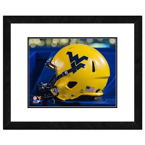 "West Virginia Mountaineers Helmet Framed 11"" x 14"" Photo"