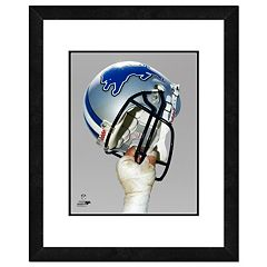 Detroit Lions Helmet Framed 11' x 14' Photo