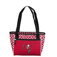 Logo Brand Tampa Bay Buccaneers 16-Can Diamond Cooler Tote