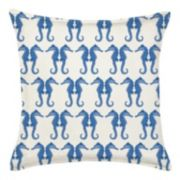 Greendale Home Fashions Seahorse Repeat Throw Pillow