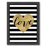 "Americanflat ""Love Heart"" Framed Wall Art"