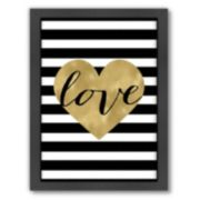 "Americanflat ""Love Heart"" Framed Wall Art"