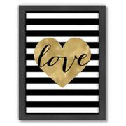 Americanflat 'Love Heart' Framed Wall Art