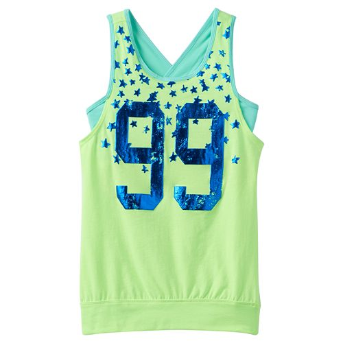Girls 7-16 & Plus Size SO® Banded Graphic Tank Top