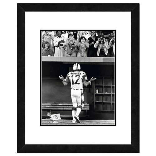 "New York Jets Joe Namath Shrug Framed 11"" x 14"" Photo"