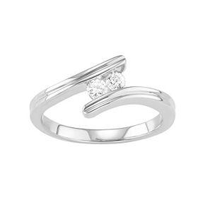10k Gold 1/4 Carat T.W. Diamond 2-Stone Ring