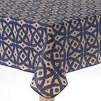 Cuisinart Ikat Peva Flannel-Back Tablecloth