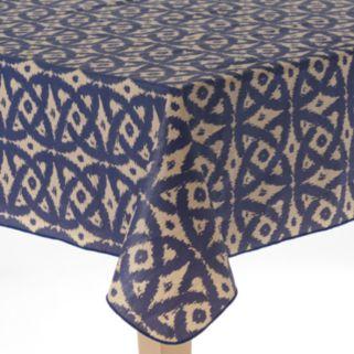 Cuisinart Ikat Peva Flannel-Back Tablecloth