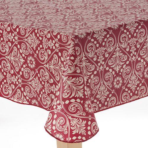 Cuisinart Damask Peva Flannel Back Tablecloth