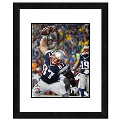 New England Patriots Rob Gronkowski Spike Framed 11' x 14' Photo