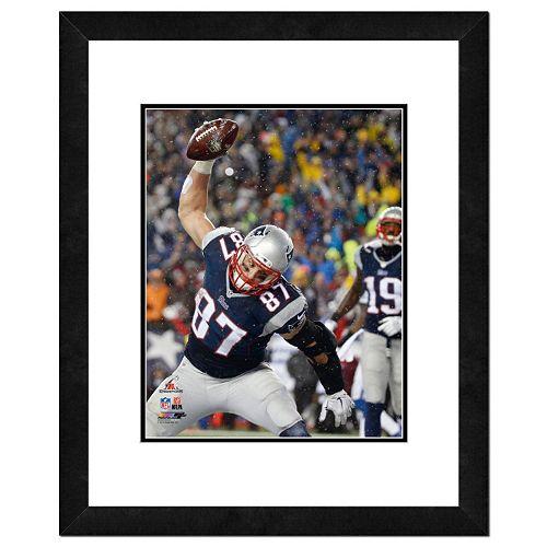 "New EnglandPatriots Rob Gronkowski Spike Framed 11"" x 14"" Photo"