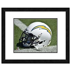 San Diego Chargers Helmet Framed 11' x 14' Photo