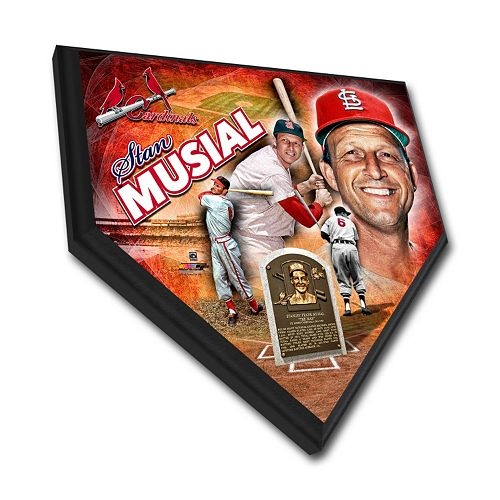 St. Louis Cardinals Stan Musial Home Plate Plaque