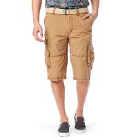 Men's Unionbay Ripstop Belted Messenger Cargo Shorts