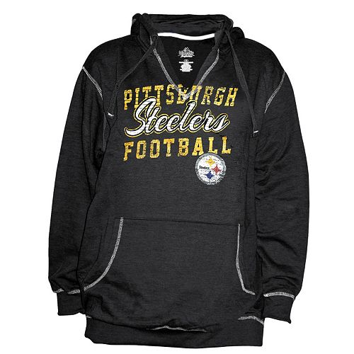 uk availability 36178 9db5c Plus Size Majestic Pittsburgh Steelers Hoodie