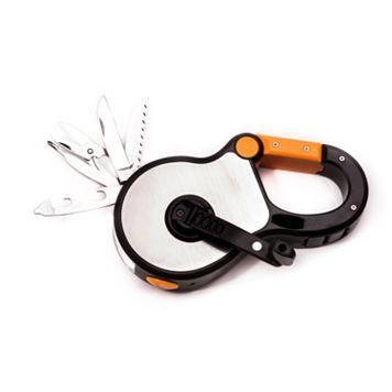Bey-Berk Carabiner Multi-Tool Kit with Flashlight