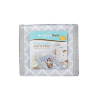 Breathable Baby Quatrefoil Mesh Crib Liner