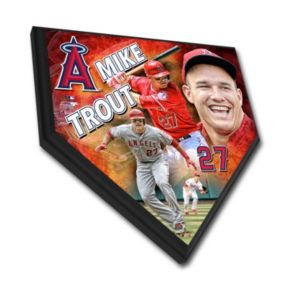 Los Angeles Angels of Anaheim Mike Trout Home Plate Plaque