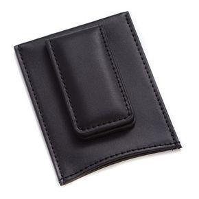 Bey-Berk Leather Magnetic Money Clip Wallet