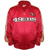 Big & Tall Majestic San Francisco 49ers Tricot Track Jacket