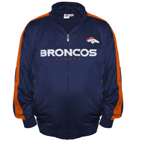 Big & Tall Majestic Denver Broncos Tricot Track Jacket