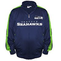 Big & Tall Majestic Seattle Seahawks Tricot Track Jacket