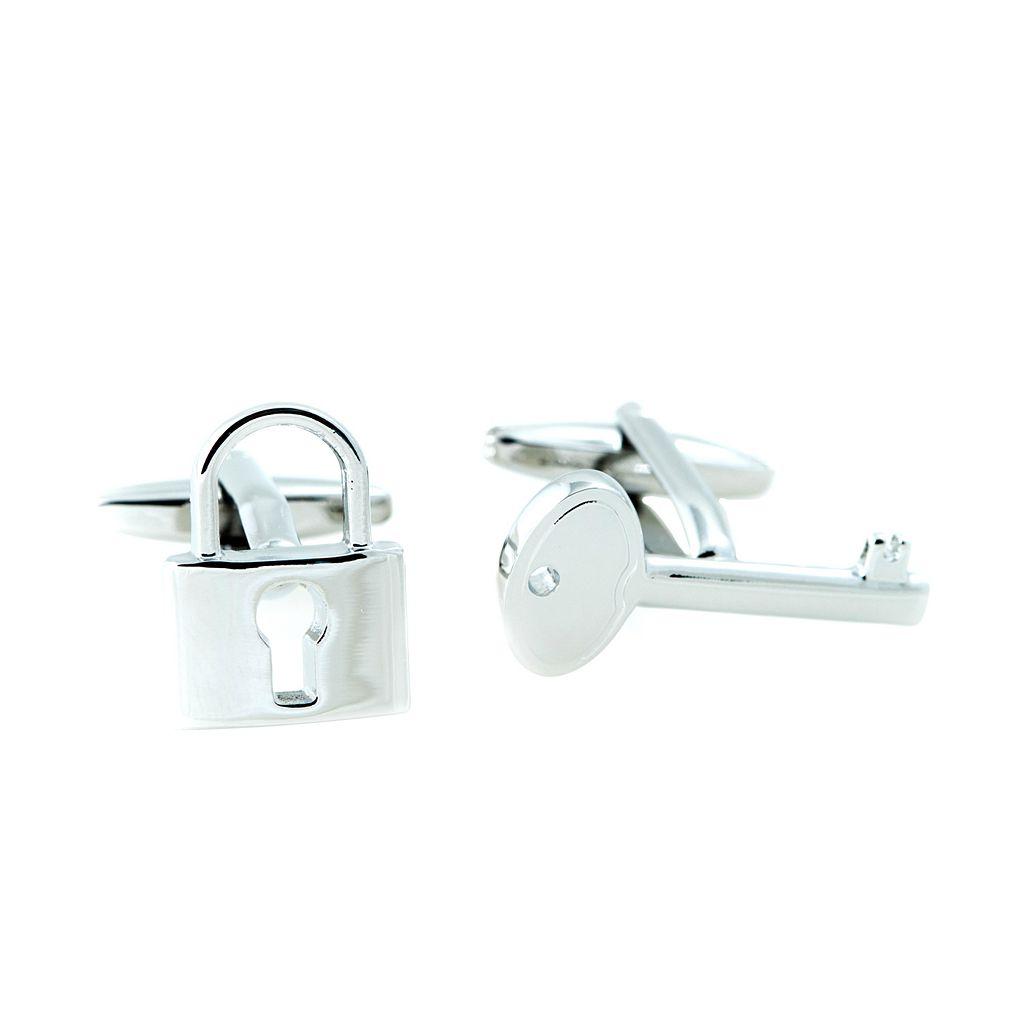 Bey-Berk Lock & Key Cuff Links