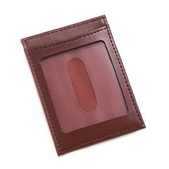 Men's Bey-Berk Leather Magnetic Money Clip Wallet