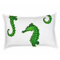 Greendale Home Fashions Seahorse Oblong Throw Pillow