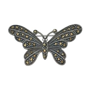 Tori HillSterling Silver Marcasite Butterfly Pin