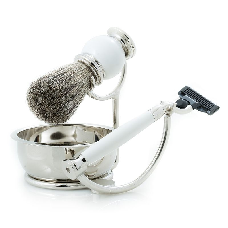 Pure Badger Shave Set with Soap Tray
